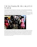 Văn hóa cosplay độc đáo của giới trẻ nhật bản
