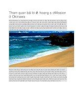 Du lịch nhật bản tham quan bãi biển hoang sơ mission ở okinawa