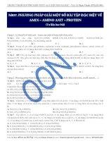 Moon037 PPGiaiMotSoBaiTapDacBietVeAmin aminoaxit protein tulieuhocbai de