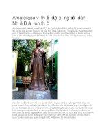 Amaterasu vị thần được người dân nhật bản tôn thờ