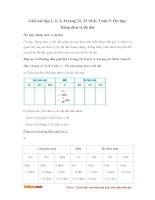 Giải bài tập trang 22, 23 SGK Toán 5: Ôn tập: Bảng đơn vị độ dài