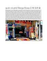 Du lịch nhật bản quán cà phê manga kissa ở nhật bản