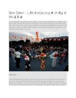 Giới thiệu nhật bản lễ hội bon odori