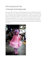 THời trang phong cách lolita ở nhật