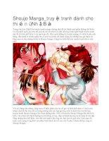 Truyện tranh thiếu nữ shoujo manga nhật bản