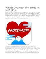 Văn hóa omotenashi của người nhật