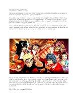 Giới thiệu về manga ở nhật bản