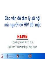 Bài giảng các vấn đề tâm lý xã hội mà người có HIV đối mặt