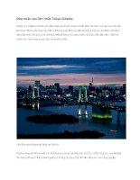Du lịch nhật bản đảo nhân tạo lớn nhất tokyo