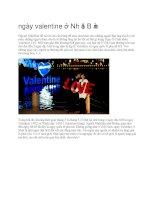 Giới thiệu ngày valentine ở nhật bản