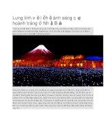 Giới thiệu nhật bản lễ hội ánh sáng cực hoành tráng ở nhật bản