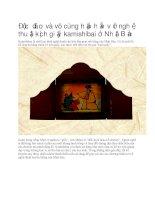 Nghệ thuật kịch giấy kamishibai ở nhật bản