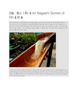 Độc đáo lễ hội mì nagashi somen ở nhật bản