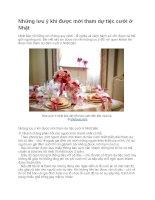 Những lưu ý khi được mời tham dự tiệc cưới ở nhật