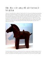 Độc đáo với tượng đất sét haniwa ở nhật bản