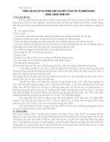 PHÂN LOẠI BÀI TẬP VÀ PHƯƠNG PHÁP GIẢI MỘT SỐ BÀI TẬP VỀ HIDROCACBON TRONG TRƯƠNG TRÌNH THPT
