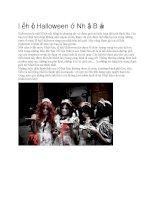 Giới thiệu nhật bản lễ hội halloween ở nhật bản
