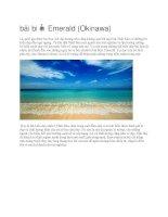 Du lịch nhật bản bãi biển emerald