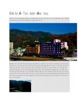 Du lịch nhật bản bãi biển toi thuộc bán đảo izu