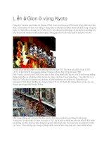 Giới thiệu nhật bản lễ hội gion ở vùng kyoto