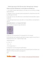 Giải bài tập trang 31 SGK Hóa học lớp 8: Bài luyện tập 1 chương 1
