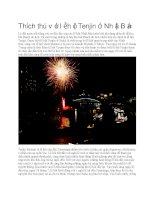 Giới thiệu nhật bản lễ hội tenjin ở nhật bản