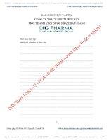 Báo cáo thực tập dược hậu giang
