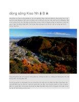 Du lịch nhật bản dòng sông kiso nhật bản