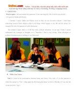 Giải bài tập SGK Tiếng Anh lớp 12 Unit 4: Listening, Writing, Language focus
