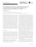 Precise determination of the mass of the Higgs boson and tests of compatibility of its couplings with the standard model predictions using proton collisions at 7 and 8 TeV
