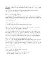 18 câu hỏi bảo vệ đồ án bê tông cốt thép 1 ( có đáp án)