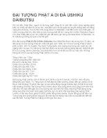 Đại tượng phật A di đà USHIKU DAIBUTSU