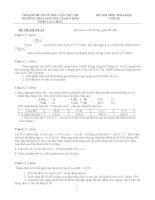 Đề thi, đáp án (đề xuất) trại hè hùng vương lần thứ XII năm 2016 môn hóa 10 trường THPT chuyên lê QUÝ đôn LAI CHÂU
