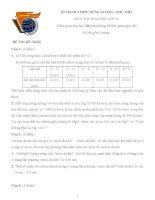 Đề thi, đáp án (đề xuất) trại hè hùng vương lần thứ XII năm 2016 môn hóa 10 trường THPT chuyên lê HỒNG PHONG NAM ĐỊNH