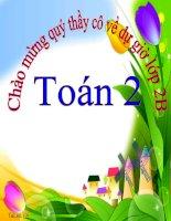 Bài giảng Toán 2 bài 7 cộng với 1 số. 7 cộng 5