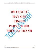 100 cụm từ thường gặp nhất trong bài thi TOEIC