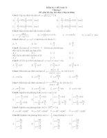 kiểm tra 1 tiết toán 11 chương 1 trắc nghiệm