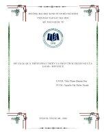 Tiểu luận môn kế toán quốc tế quá trình phát triển và phân tích nội dung của IAS 18 – revenue
