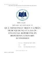 Tiểu luận môn kế toán quốc tế quá trình phát triển và phân tích nội dung của IAS 29 financial reporting in hyperinflationary economies