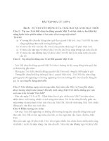 Bài tập địa lý lớp 6 bài 8 sự chuyển động của trái đất quay quanh mặt trời