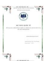 Tiểu luận môn kế toán quốc tế quá trình phát triển và nội dung chuẩn mực của kế toán hongkong
