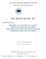 Tiểu luận môn kế toán quốc tế tìm hiểu các nguyên tắc lập và trình bày báo cáo tài chính theo IAS 1