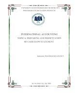 Tiểu luận môn kế toán quốc tế preparing and presentation of cash flow statement