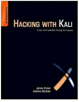 Sách Hacking with kali