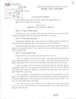 luật xây dựng số 50 năm 2014