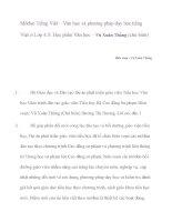 Môđun tiếng việt – văn học cho học sinh giỏi lớp 4