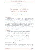 Thủ thuật casio tìm hệ số trong khai triển nhị thức Newton  Bùi Thế Việt