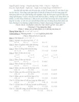 Trắc nghiệm Toán 12 Chương 1 full có đáp án