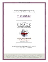 summary the knack  Personal MBA  AM Sourcing