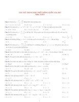 Đề thi thử THPT quốc gia 2017 môn toán